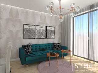 Modern living room by SYME - Pracownia Wnętrz Modern