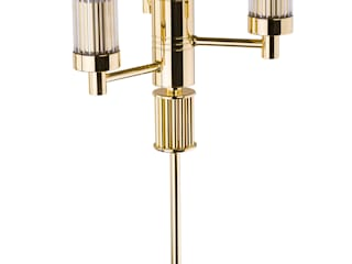 Contemporary Gold Brass Luxury Chandelier SETI 8 Arms Glass Lamp Shade:   by Luxury Chandelier