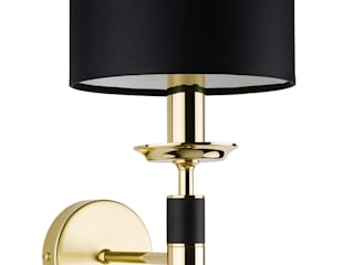 Modesto Modern Luxury Polished Brass Chandelier 8 Arms Black Fabric Lamp Shade Luxury Chandelier Corridor, hallway & stairsLighting Copper/Bronze/Brass Black