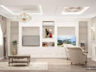 Дизайн интерьера таунхауса: Гостиная в . Автор – Студия дизайна интерьера Натали
