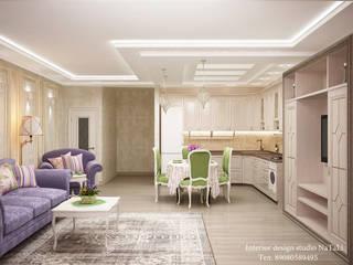 Дизайн интерьера дома в Лесном острове: Гостиная в . Автор – Студия дизайна интерьера Натали