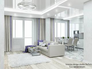 Дизайн интерьера в ЖК Ньютон : Гостиная в . Автор – Студия дизайна интерьера Натали