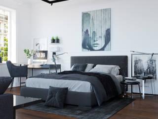 Eclectic style bedroom by Студия интерьеров EGOIST Eclectic