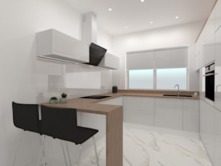 Built-in kitchens by SYME - Pracownia Wnętrz