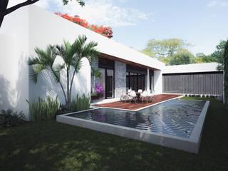 Casa MH: Terrazas de estilo  por Studio ADM - Arquitectura y Diseño Mexicano