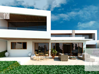 Diseño casa Santiago: Casas unifamiliares de estilo  por ARQD spa