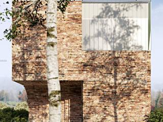 Dom z ćwierć kolebką: styl , w kategorii  zaprojektowany przez ANIEA Andrzej Niegrzybowski architekt