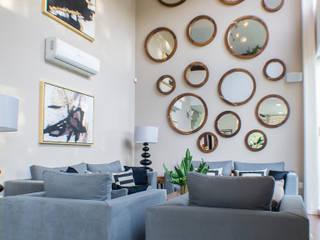 Excelencia en Diseño Soggiorno moderno Bianco