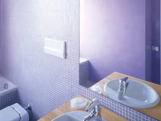Sistemazione di un appartamento tradizionale per una giovane coppia: da banale ad originale;: Bagno in stile  di Scaglione Workshop architettura e design,
