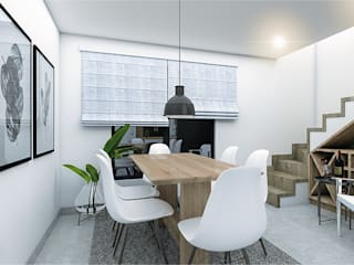 CODIAN CONSTRUCTORA Scandinavian style dining room White