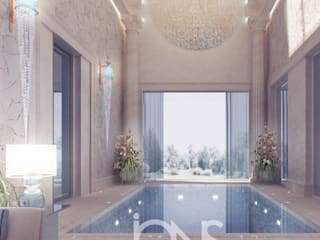 Refreshing Roman Style Indoor Pool – Design Ideas from IONS Design IONS DESIGN Garden Pool Stone Beige