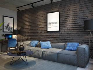 Living room by dm-interiors.com.ua, Industrial
