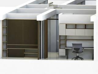 Edificio Muriel Córdoba: Habitaciones pequeñas de estilo  por MARROOM | Diseño Interior - Diseño Industrial,