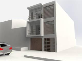 Edificio Muriel Córdoba: Casas multifamiliares de estilo  por MARROOM | Diseño Interior - Diseño Industrial,