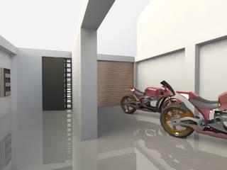 Edificio Muriel Córdoba: Puertas de garajes de estilo  por MARROOM | Diseño Interior - Diseño Industrial,