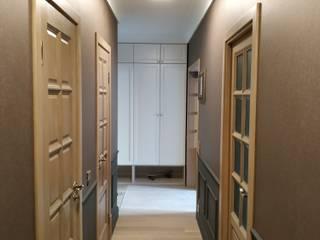 Трёхкомнатная квартира в классическом стиле в г. Гродно (Беларусь). Коридор, прихожая и лестница в классическом стиле от ИП Жамойтины Светлана и Роланд Классический
