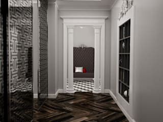 Classic style corridor, hallway and stairs by Irina Yakushina Classic