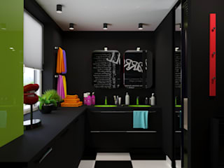 Irina Yakushina Minimalist style bathroom Black