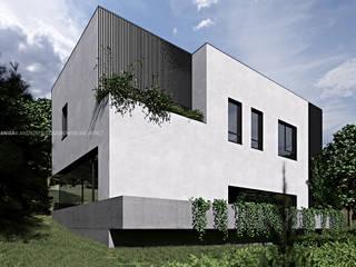 Dom typu kostka od ANIEA Andrzej Niegrzybowski architekt