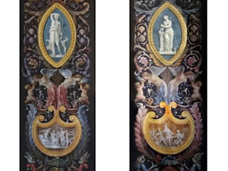 Grottesche Pareti & Pavimenti in stile classico di erica de rosa, dipinti, affreschi, trompe l'oeil, decorazioni - Venezia Classico