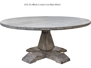 Altholzmöbel-Esstisch grau- Esszimmer Einrichtung von MATZ-MÖBEL Mediterran