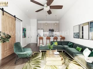 Open Plan Interior Design for Modern Kitchen Living Room architectural design home plans by 3d animation studio, Rome – Italy Modern Oturma Odası Yantram Architectural Design Studio Modern