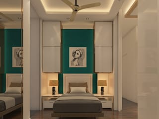 Lavish Bedroom Design, Mumbai by Sagar Shah Architects Modern