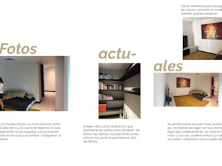 Proyecto oficina-casa: Estudios y oficinas de estilo  por Andrea Loya, Moderno