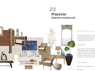 Kabeek colaboración dpto muestra: Salas de estilo  por Andrea Loya, Mediterráneo
