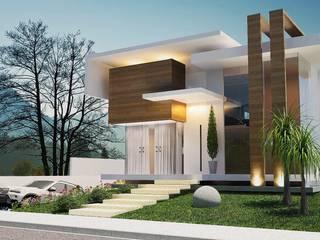 Fachadas Modernas Casas modernas de Beltor Constructora Moderno