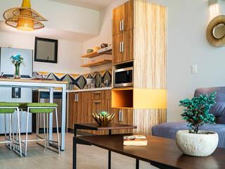 Opal Suites, Playa del Carmen Andrea Loya Cocinas de estilo tropical