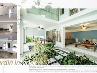 Casa en la zona hotelera: Jardines de estilo  por Andrea Loya