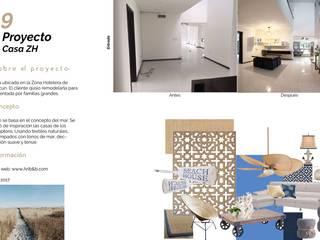 Casa en la zona hotelera: Estudios y oficinas de estilo  por Andrea Loya
