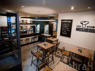 """Proyecto, diseño y reforma de local comercial """"Mushroom"""" Bares y clubs de estilo moderno de Cimbra47 Moderno"""