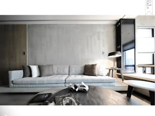 城沐光 | Urban Twilight 住家 现代客厅設計點子、靈感 & 圖片 根據 張立群建築師事務所 |集創國際室內裝修設計有限公司 現代風