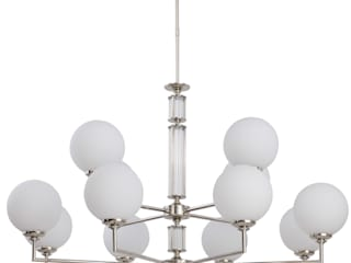 Artu Glass Collection Designer Lamp Luxury Chandeliers Glass Lamp Shades Brass Lighting 클래식스타일 거실 by Luxury Chandelier 클래식