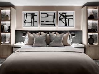 United By Design - Residential Project:  Bedroom by Rachel Usher Interior Design