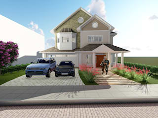 Residência em estilo americano Casas campestres por Tuti Arquitetura e Inovação Campestre
