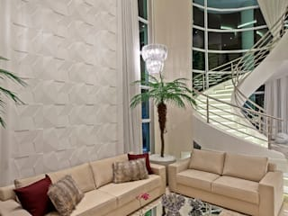 Casa Mont Blanc Salas de estar modernas por Designer de Interiores e Paisagista Iara Kílaris Moderno