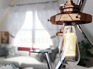 Minimalist living room by Modellazione-3d.it Minimalist