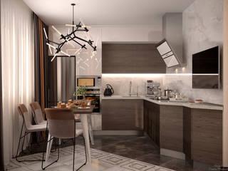 Cocinas modernas: Ideas, imágenes y decoración de Студия интерьерного дизайна happy.design Moderno