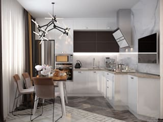 Cocinas modernas de Студия интерьерного дизайна happy.design Moderno