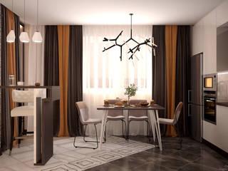 Cocinas de estilo moderno de Студия интерьерного дизайна happy.design Moderno