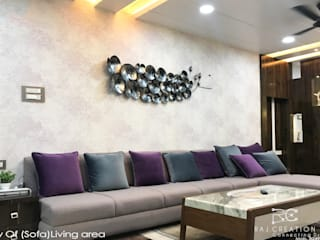 Mr. Subuddhi residency Asian style living room by Raj Creation Asian