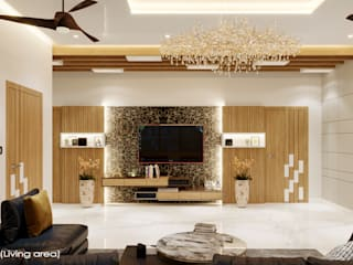 The modern Touche Eclectic style living room by Raj Creation Eclectic