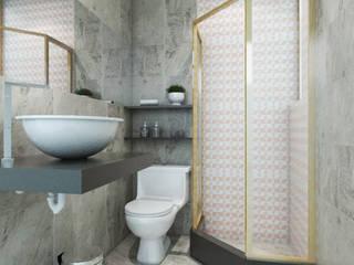 Salle de bain minimaliste par HANS DIETER ARQUITECTO Minimaliste