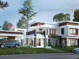 Builders In Kochi Asian style houses by CreoHomes Pvt Ltd Asian