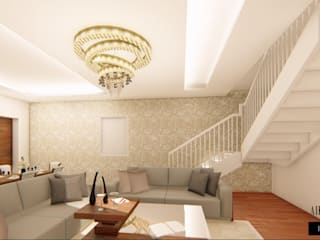 Elegant Interiors for a 3 BHK VILLA at Chennai:  Corridor & hallway by Aikaa Designs