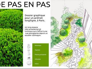 Création de jardin et allée en mosaique: Jardin de style  par Stuc Mosaic