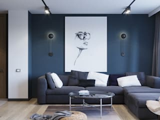 Industrial style living room by Suleimanova interior Industrial